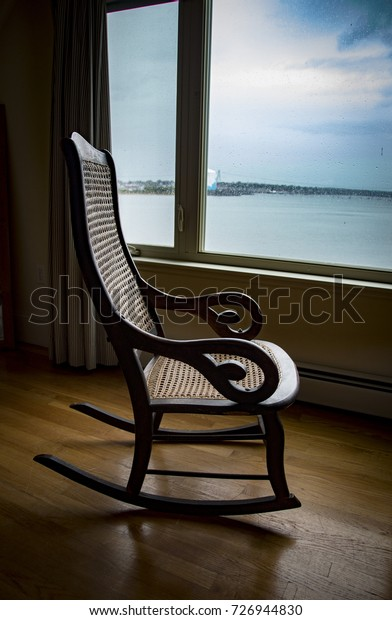 Excellent Empty Rocking Chair Looking View Bay Royalty Free Stock Image Caraccident5 Cool Chair Designs And Ideas Caraccident5Info