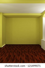 empty room with backlight - 3d illustration