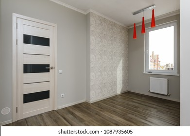 Empty room in a brand new modern apartment