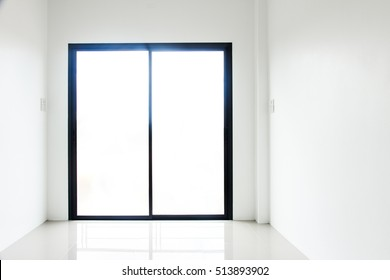 Empty room and door in a modern house