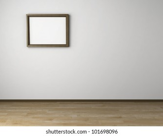 Empty room with frame