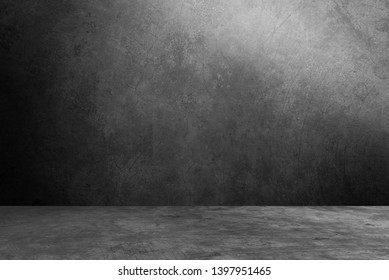 empty room interior cement backgrounds display product