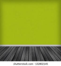 empty room, interior with wallpaper