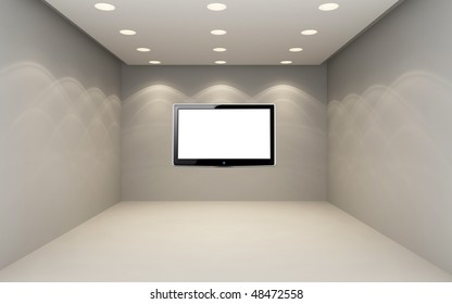 Empty room with LCD