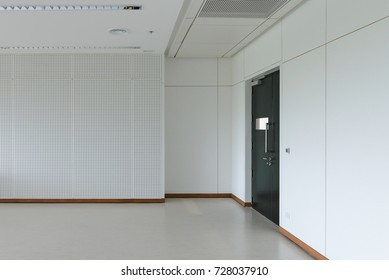 Empty room modern interior - floor with soundproof wall and door