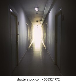 Empty room and nobody inside, horror situation and very creepy