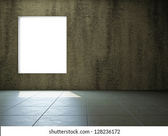 Empty room with old wall and a window