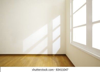 Empty room with sunlight.
