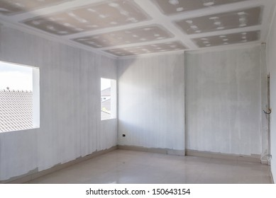 Empty room under construction