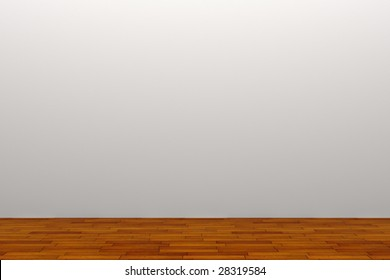 empty room with white wall