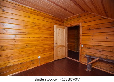 empty room with wood trim