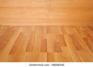 Empty room wooden floor