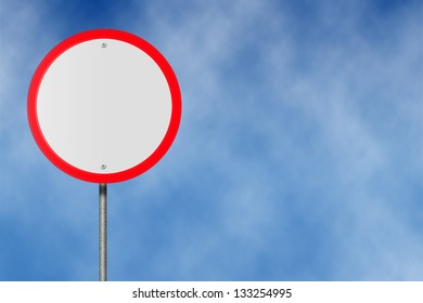 An Empty Round Shape Sign Plate, Illustration