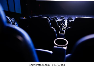 Empty rows of streets in a cinema/theater.