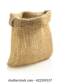 empty sack bag isolated on white background