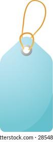 Empty sales promotion announcement label, clipart illustration