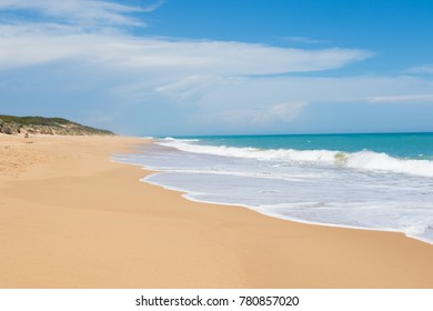 Empty sandy beach in Western Australia