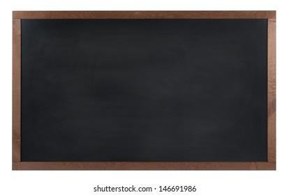 An empty school, black board (chalk board) isolated on white