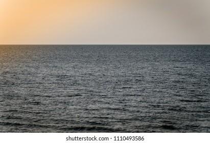 empty sea to the horizon