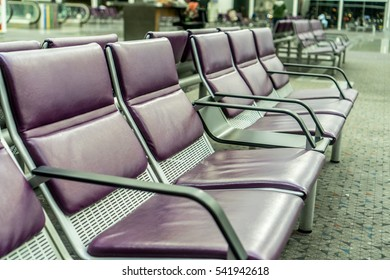 Empty seats at airport gate