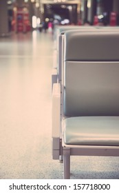 empty seats in the airport waiting room