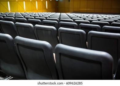 Empty seats in auditorium.