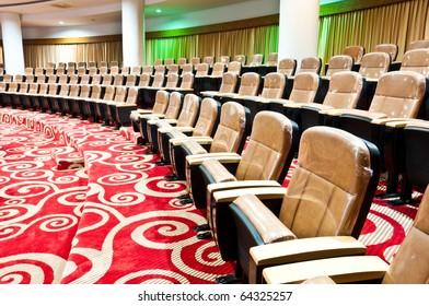 empty seats in auditorium interior