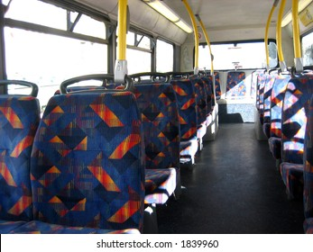 Empty seats in a bus
