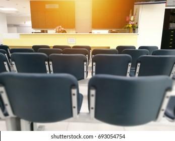 Empty seats in hospital