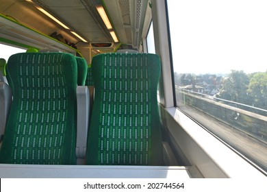 empty seats on a moving train