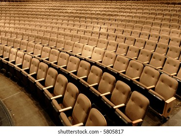 Empty seats in a performing arts theater