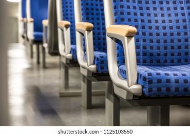 empty seats in regional train in Europe