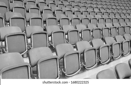 empty seats at the stadium without the spectators due to the Corona Virus Covid-19 and the cancellation of all the shows