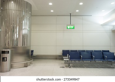Empty seats in a terminal at the airport.
