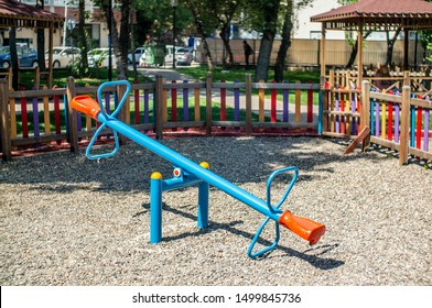 Empty Seesaw In The Park
