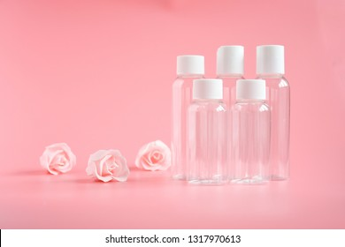 Empty set holiday travel plastic bottles , idea for travelling to contain for all toiletries, shampoo, lotion, nail varnish remover and shower gels. Enough to be carried around in your handbag,