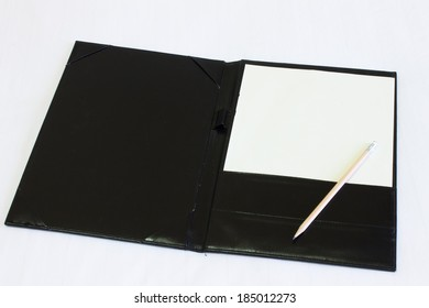 Empty sheet of notebook put on the table