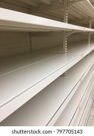 empty shop shelving