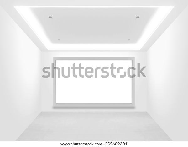 Astonishing Empty Showroom Blank Screen Stock Photo Edit Now 255609301 Download Free Architecture Designs Scobabritishbridgeorg