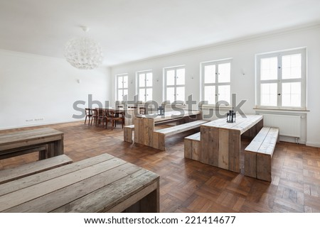 Awesome Empty Simple Rustic Wooden Benches Tables Stock Photo Edit Ocoug Best Dining Table And Chair Ideas Images Ocougorg