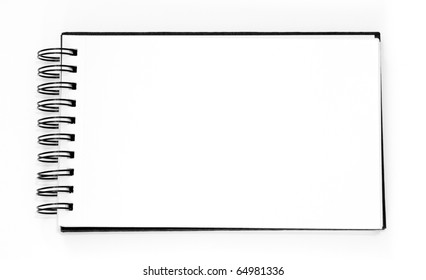 empty sketchbook with room for your text or photo