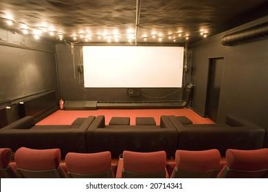 empty small cinema auditorium