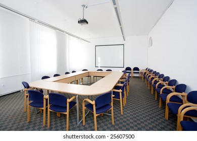 empty small classroom or meeting room