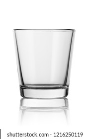 empty small shot glass isolated on white background