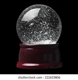 Empty Snow Globe Isolated on Black