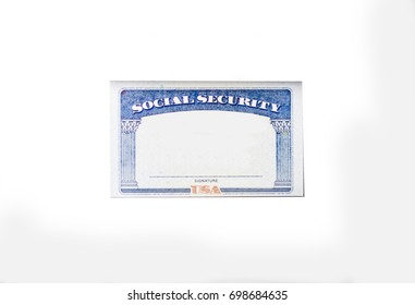 Empty Social Security Card Number