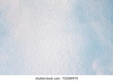 Empty space. Snow scene background