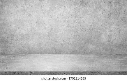 Empty space studio room of Plaster concrete grunge texture background for use display product.