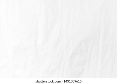 Empty space of wrinkled white paper, Abstract white background.Clear light.