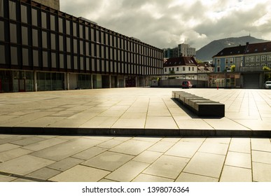Empty square in the city on a sammer day
